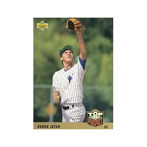 1993 Upper Deck # 449 Derek Jeter RC - New York Yankees Rookie Baseball Card In Protective Display ()