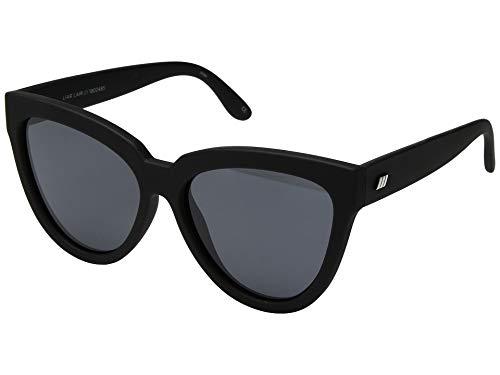 Le Specs Women's Liar Liar Sunglasses, Black Rubber, One Size (Le Specs Shop)