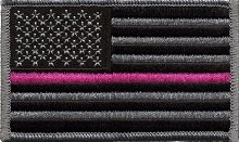 Pink Fighters (2 Pack - US Flag Thin Pink Line Velcro Patch for Breast Cancer Support Firefighters and Paramedics)