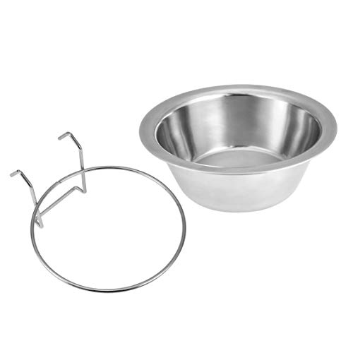Stainless Steel Pet Dog Bowl Food Water Drinking Cage Cup Hanger Food Water Bowl Travel Bowl For Pet Feeding Tools