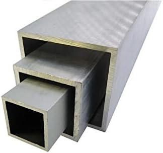 AlMgSi0.5 - Tubo cuadrado de aluminio (30 x 30 x 3 - 100 x 100 x 4 mm, perfil hueco, 2 m), AlMgSi0.5