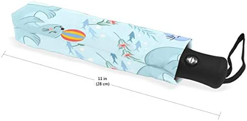 Chovy 折りたたみ傘 軽量 自動開閉 晴雨兼用 レディース 日傘 UVカット 遮光 ワンタッチ メンズ 海豹 アザラシ アニマル 動物 可愛い かわいい 雨傘 傘 晴雨傘 折り畳み 8本骨 遮熱 丈夫 耐風撥水 収納ポーチ付き プレゼント