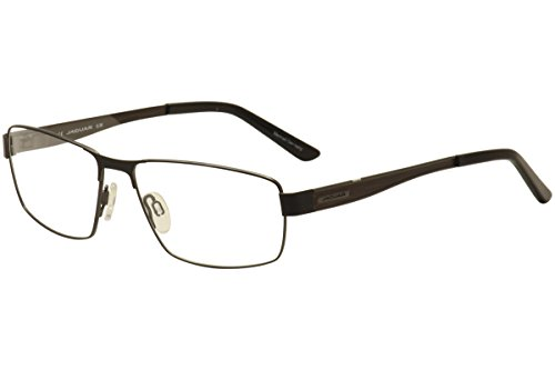 Jaguar Men's Eyeglasses 33071 818 Black/Brown Wood Full Rim Optical Frames - Frames Eyeglass Jaguar