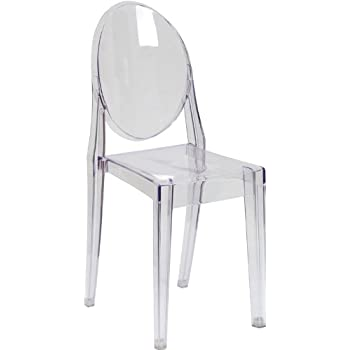 Nice Flash Furniture Ghost Side Chair In Transparent Crystal