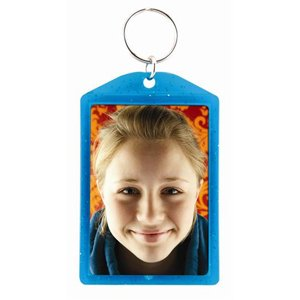 2x3 Teal Translucent Sparkle Photo Keychains - Case of 144