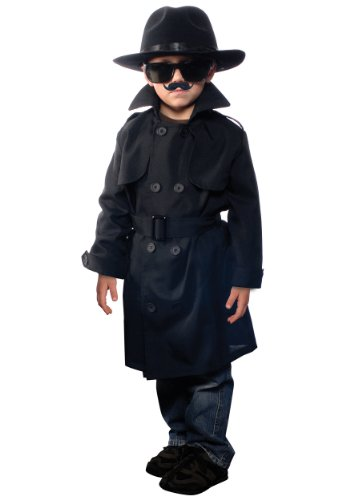 [Aeromax Jr. Secret Agent with Accessories, Size Large OSFM Ages 9-12] (Jr Secret Agent Kids Costumes)