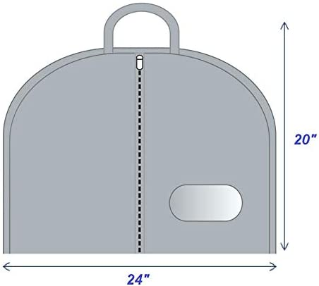 Garment Bag 40 inch Clothes Breathable Material Cloth Cover Travel Suit Carry on Bag Durable Zipper Eyehole UV-Protection Anti-Moth Hanging Unique Black Color Luggage Wardrobe Storage