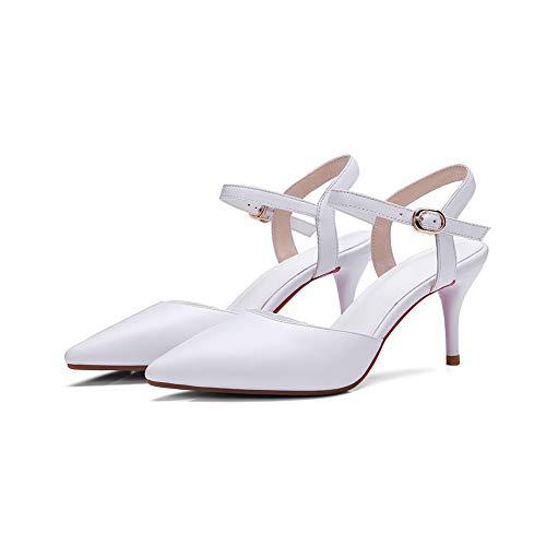 Solid BalaMasa Womens Pumps White Business Shoes Urethane APL11094 Travel 5rrFnTwgxq