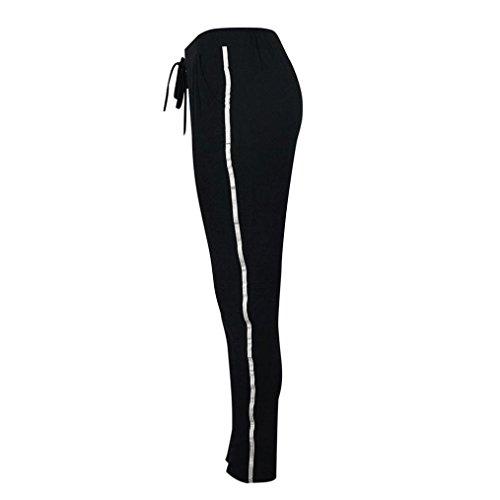 sudadera en Traje pantalones Internet uso para mujeres Negro deportivo 2pcs deportivo chándal Traje conjuntos el deportivo lounge gwqUUxXfB