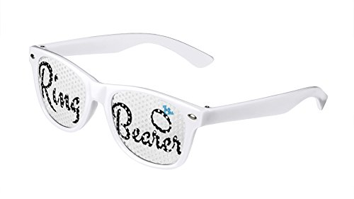 LogoLenses Child Size Wedding Ring Bearer Classic Sunglasses White