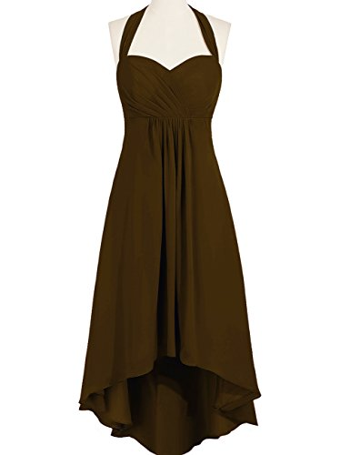 Prom Duraplast Evening Low Gown High Brown Dress Halter Women's awUqHz