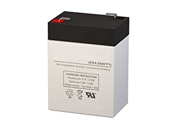 YT-645 6.00 Volt 4.50 AmpH SLA Replacement Battery with F1 Terminal by SigmasTek