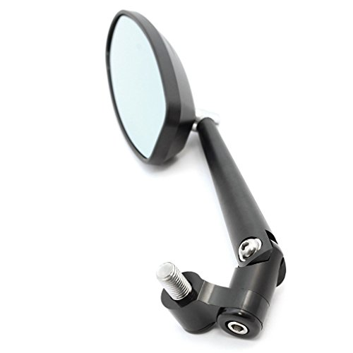 Universal 4'' Black Rotating Adjustable Long stem Aluminum Motorcycle Mirror by DCC Originals (Image #2)
