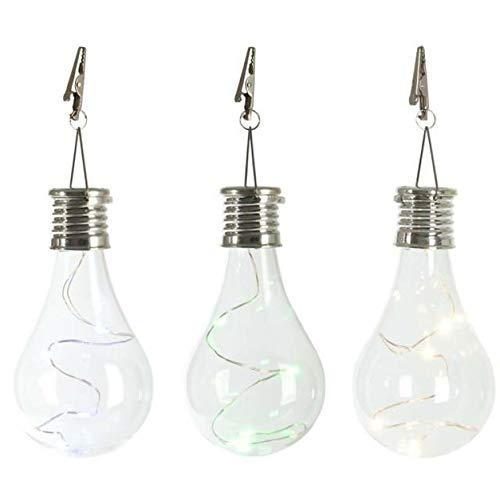 3pc Waterproof Hanging Lanterns Multicolour Solar Rotatable Outdoor Garden Camping Hanging Light Lamp Bulb