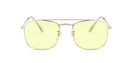 en métallique Film vintage polarisées rond soleil du style Lennon inspirées Jaune cercle lunettes retro de SBxwPPqz