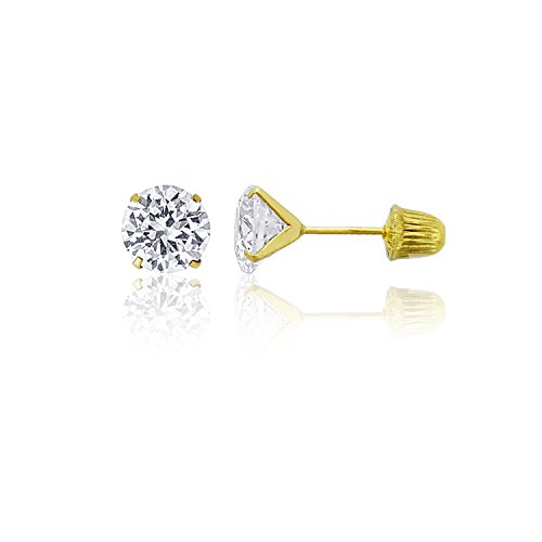 Yellow Gold 6mm Round Solitaire - 5