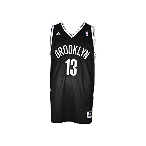(adidas Mens Swingman Jersey NBA Nets Basketball Athletic Jersey Black M)