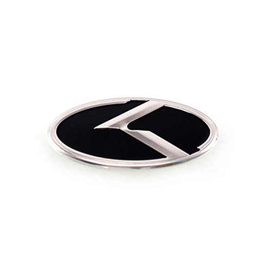 3D K Logo Steering Wheel Horn Cap Emblem Badge Black For KIA 2010-2012 2013 Forte Koup