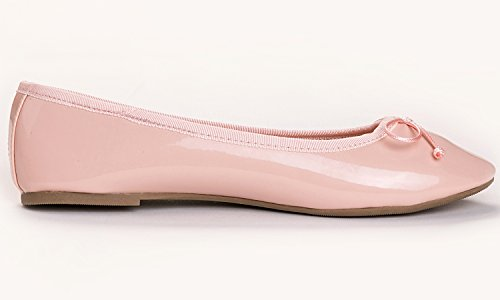 Pink Flat Feversole Patent Colorful Memory Ballet Cusion Insock Macaroon Women's 8n8wxqZzR