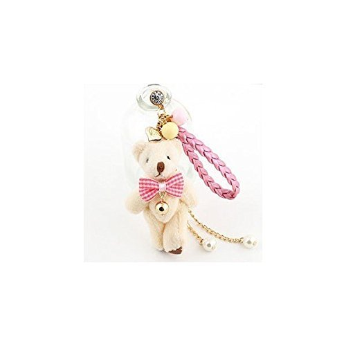 - Earphone Jack Accessory Love Heart Beige Bear Pink Braided Rope Crystal Pearls / Dust Plug / Ear Jack For For Iphone 4 4S / Samsung / iPad / iPod Touch / Other 3.5mm Ear Jack