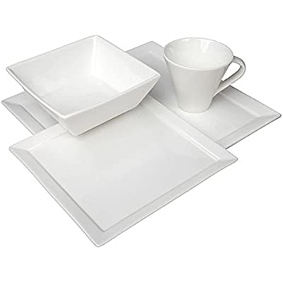 Click for Fortessa Fortaluxe Vitrified China Dinnerware, Tavola 16-Piece Place Setting, Service for 4
