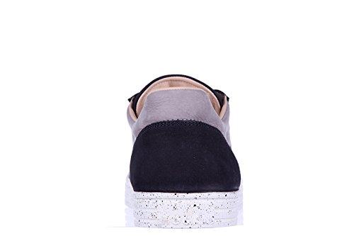 Hogan Rebel chaussures baskets sneakers homme en cuir r141 rebel blu