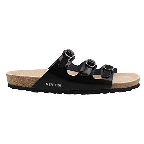 Mephisto Women's NOLENE Slide Sandal, Black Patent, 8 M US