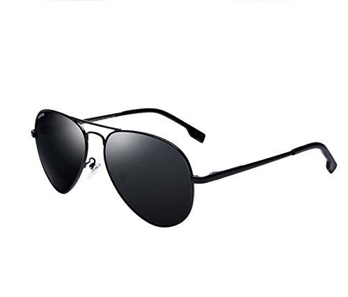 Hombre Sapo Gafas Del Macho Bastidor Sol Ash Pistola Gafas Conducción De Polarizador NHDZ Gafas De Sol Black Gray Frame De Conductor De BqBOZ