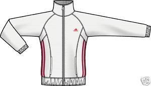 Adidas SportyKnit Women`s Jacket (Large, White / Art Red (White/Bright Red))