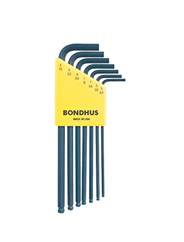 Bondhus 10945 Set of 7 Balldriver« L-Wrenches, Sizes 5/64-3/16-Inch