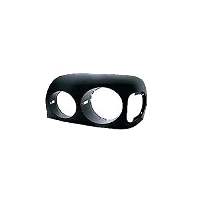 Depo 340-1204R-UD2 Replacement Passenger Side Headlight Bezel w/Black Finish: Automotive