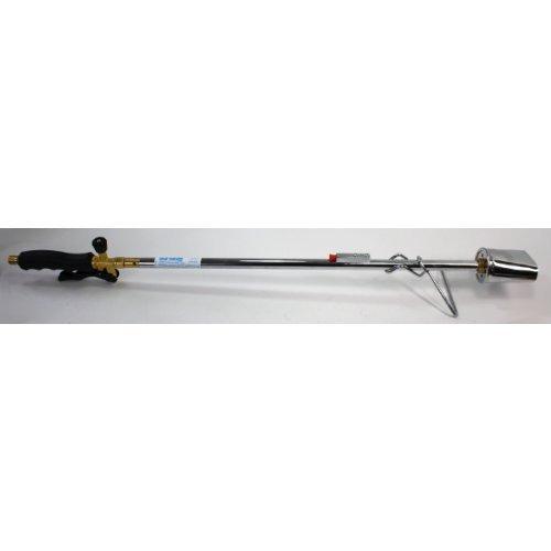Unkrautbrenner SuperBioFlamme 75 mm Brenner Propangasflasche (Piezozündung Sparventil Abflammgerät Enteiser Unkrautvernichter) HausundWerkstatt24