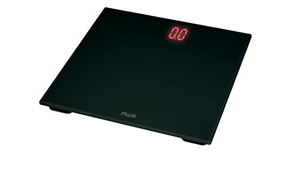 American Weigh Scales ZT-150 Báscula personal electrónica Negro - Báscula de baño (Báscula personal electrónica, 150 kg, 100 g, Negro, Vidrio, ...