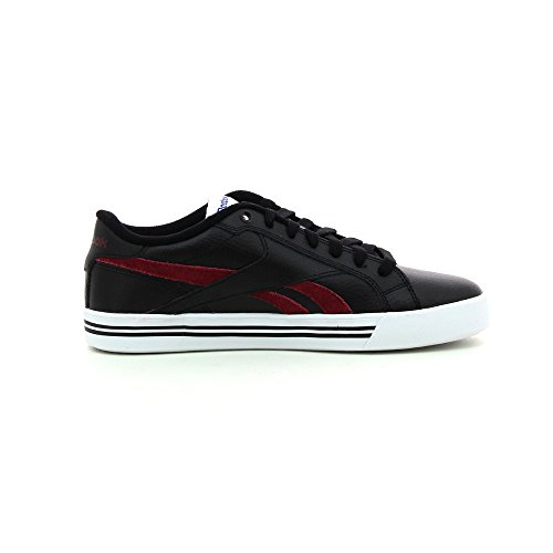 Reebok Royal Complete Low - Botines Hombre Negro - Noir (Black/Burgundy/White)