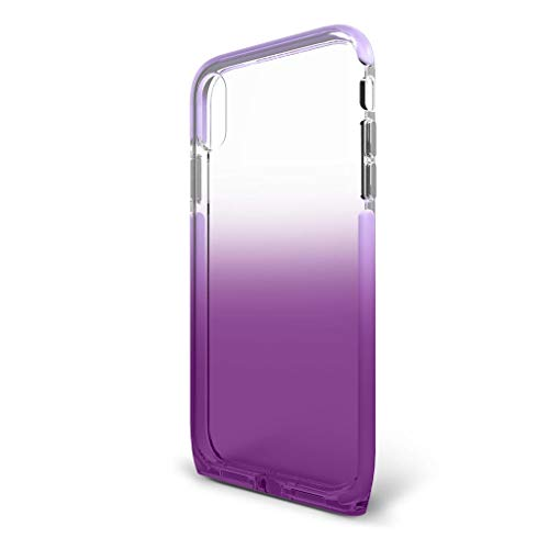 BodyGuardz - Harmony Case for Apple iPhone Xs Max (Clear/Purple), Extreme Impact and Scratch Protection for iPhone Xs Max (Amethyst)