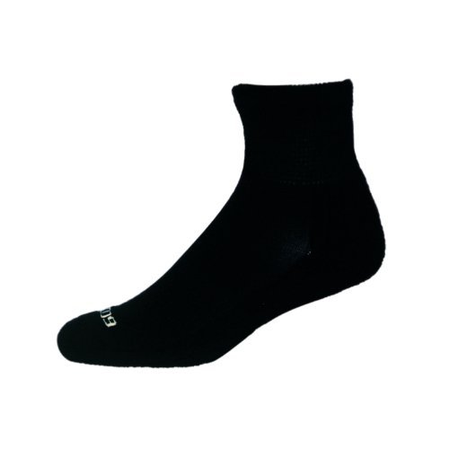Diabetic Socks - 3 pair - Viscose From Bamboo - Quarter W/arch Support - Size 10-13 - by Ecosox