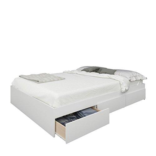 Nexera 225403 Blvd Full Size Storage Bed, White