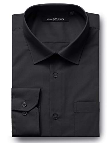 Verno Luxton MensFashion(Regular) Fit Long Sleeve Dress Shirt, 18-18 1/2