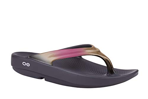 OOFOS - Women's OOlala - Post Run Sports Recovery Thong Sandal (7, Rose Gold)