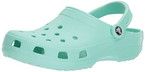 Crocs Men's and Women's Classic Clog, Comfort Slip On Casual Water Shoe, Lightweight, New Mint, 9 US Women / 7 US Men from Crocs