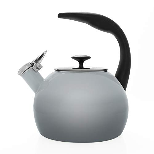 Chantal 37 OM FG Heath Teakettle Enamel-On-Steel 2-Quart Fade Grey