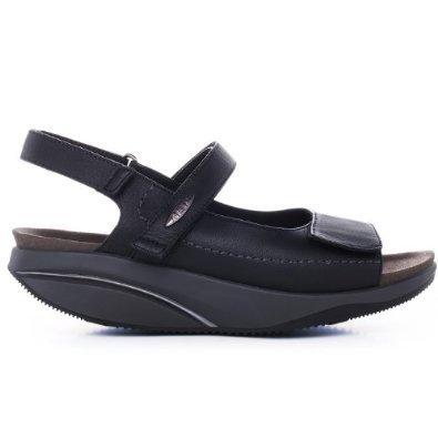 Sandalo Donna Nero Mbt Sasa In Pelle Nera