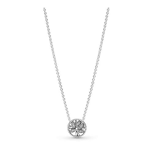 PANDORA Tree of Life 925 Sterling Silver Necklace, Size: 45cm, 17.7 inches - 397780CZ-45