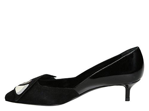 Pierre Hardy Low Heels Pumps In Black Suede Leather - Model Number: GP01 Black YqRda