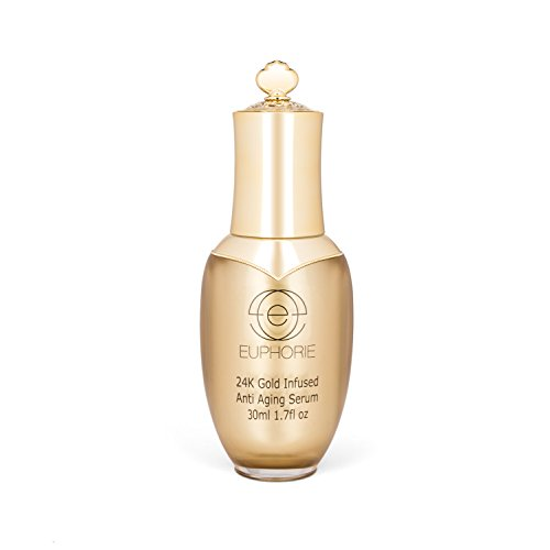 Turn Back The Clock Gold Facial Serum - Anti Aging, Anti Wrinkle, Reduces Puffiness, Reduces Fine Lines and Aging Spots, 1.7 Fl Oz