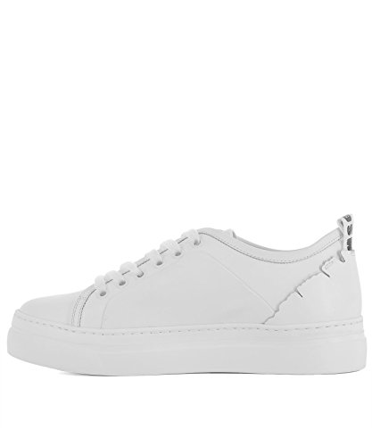 Sneakers Donna Pelle MSGM Bianco 2441MDS18002 qazFwxU