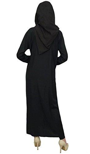 Dress s Bimba Long With Gown Burqa Abaya Hijab Black Sleeve Women Formal 07OaHnOqS