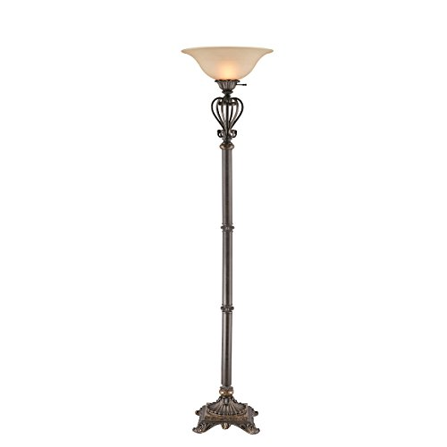 Stein World 97901 Torchiere Floor Lamp 3 Way Iron Torchiere