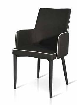 956c4ea18 InHouse srls Juego de 4 sillas Acolchadas y revestidas de Tejido Gris  Lavable Hogar y cocina ...