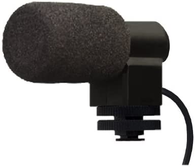 Stereo Microphone with Windscreen for Sony Handycam HDR-CX675 Shotgun